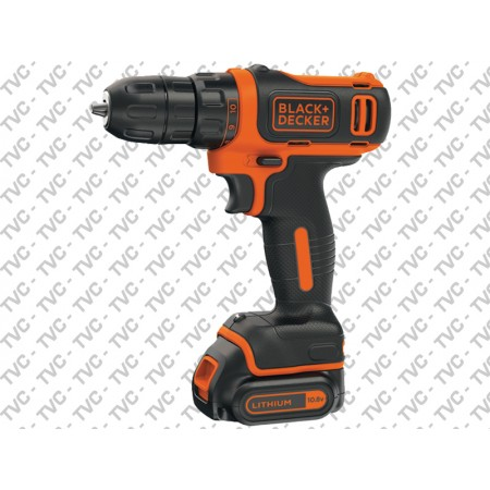 Trapano Avvitatore 10.8v litio 1.5ah 2 Batterie in Valigetta BLACK+DECKER