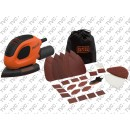 KIT Levigatrice Mouse Rossa Multifunzione 55 W in Soft Bag BLACK+DECKER